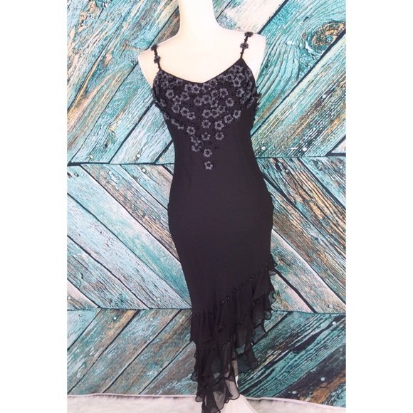 a4f6784fc3df1 Sue Wong Dresses | Black Beaded Pearl Floral Cocktail Dress | Poshmark